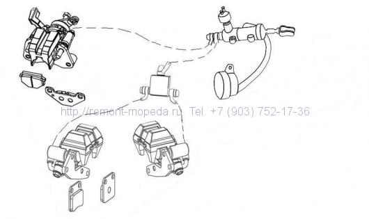 Тормозная система в сборе SAGITTA ORSO 200